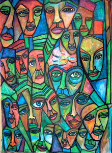 art jagged faces